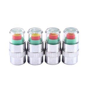 Bandenspanningsindicator in ventieldop met drukmeter