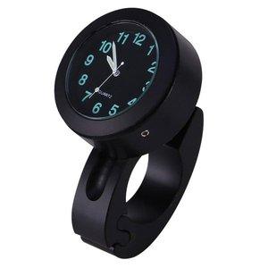 Motor Stuur Horloge / Klokje Zwart Aluminium