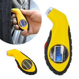 Digitale Bandenspanningsmeter met Ledlampje 0,15 - 10 bar geel