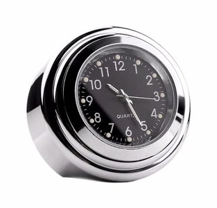 Motor Stuur Horloge / Klokje  Chroom