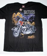 brothers in the wind bikers t-shirt