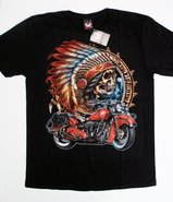 American-Indian-Skull-Motorbike--T-shirt-