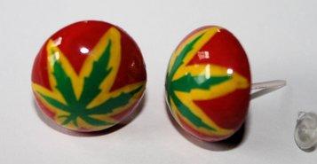 rasta en reggae oorbellen